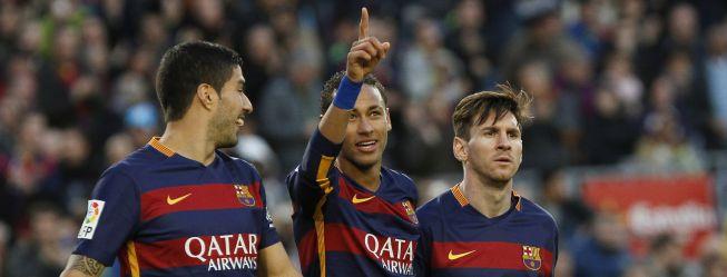 El Barça, subido a la ola de Neymar y Suárez, imparable