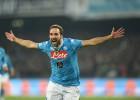 Dos goles de Higuaín colocan al Nápoles líder de la Serie A