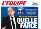 """L'Equipe, contra el presidente de la FFF: """"Una burla"""""""