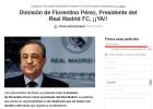 Piden la dimisión de Florentino a través del portal change.org