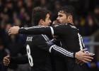 Diego Costa y Oscar se pelean durante el entrenamiento