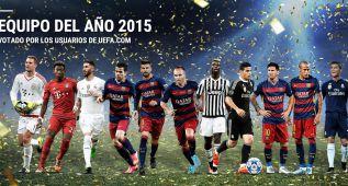 Cinco jugadores del Barça y tres del Madrid en el once de la UEFA