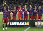 Messi ofreció al Camp Nou su quinto balón de oro
