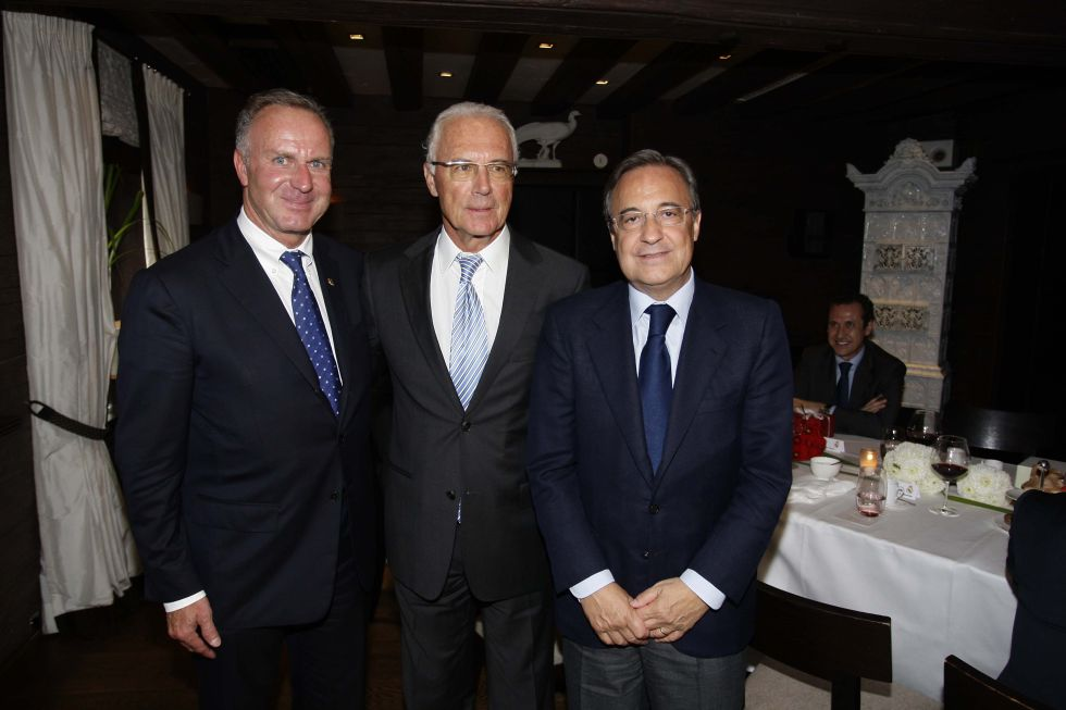 Rummenigge, junto a Beckenbauer y Florentino