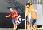Feghouli y Enzo, novedades en el entrenamiento del Valencia