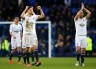 El Swansea se aleja del descenso; el Everton de Europa