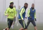 Pepe y Cristiano se ejercitan dentro de las instalaciones