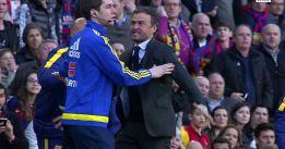 Luis Enrique se encaró al cuarto árbitro tras la entrada de Filipe