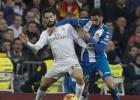 El Espanyol 'pegó' igual al Madrid (19 faltas) que al Barça