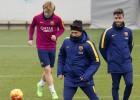 Messi, recuperado de su rodilla, vuelve a trabajar con el grupo
