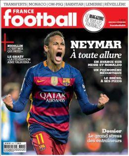 France Football sobre Neymar: 'Por delante de Messi y Cristiano'