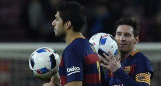 El uno a uno del Barça: Luis Suárez y Messi cum laude