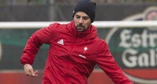 Nolito vuelve a ser baja y no estará en la ida ante el Sevilla