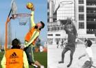 Ramos emula a Pirri jugando al baloncesto 45 años después