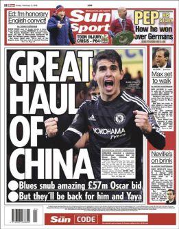 Chelsea rechazó una oferta de 75 millones por Oscar