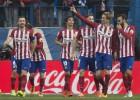 El Atlético remonta con cabeza y Torres hace su gol 100