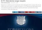 El Barça emite un comunicado en el que