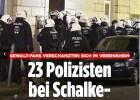 23 policías heridos en un ataque de hinchas del Schalke
