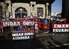 Indar Gorri protestó fuera de El Sadar por las detenciones