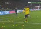 Hinchas del Dortmund tiraron pelotas de tenis en DFB Pokal