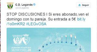 """Leganés y Huesca celebran San Valentín: """"Stop discusiones"""""""