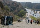 El accidente del autobús de Huracán en imágenes