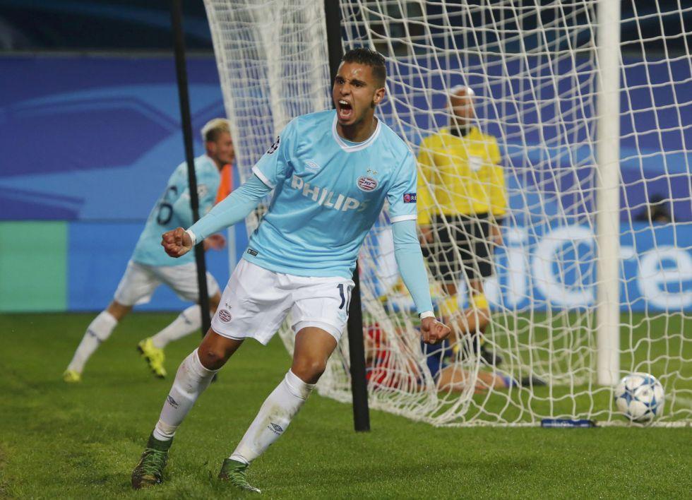 El Atlético, muy pendiente de la estrella del PSV Maher que celebra gol