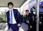 Tiago ha viajado con el Atleti, al que le ha recibido frío y lluvia