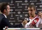 Alonso narra el tercer gol de Ríver al perderse la señal de TV