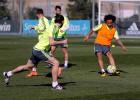 Marcelo y Modric se ejercitan con el resto de la plantilla