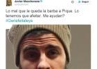 Mascherano crea una campaña para que Piqué se afeite