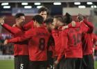 El Mallorca toma aire en el partido del Centenario