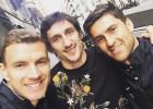 Dzeko aprovechó su visita a Madrid para verse con Savic