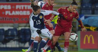 España empata ante Escocia 'in extremis' con gol de Virginia