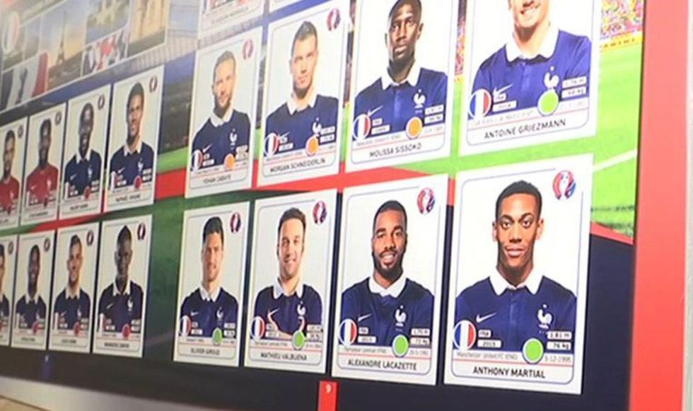Euro 2016 Panini France with Benzema missing