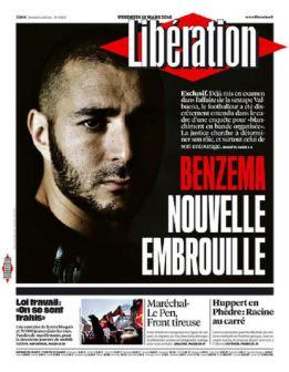 Karim Benzema, jugador del Real Madrid, se ve envuelto en una nueva polémica según Liberation medio francés