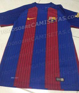 El diseño filtrado de la camiseta del Barça para la temporada 2016-2017. e8424d4cb0e0f