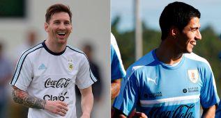 Luis Suárez vuelve con Uruguay; Messi, feliz con Argentina
