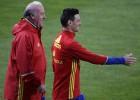 Del Bosque probó un once con Aduriz y Morata en la delantera