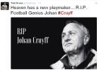 El mundo del deporte despide a Johan Cruyff en las redes sociales