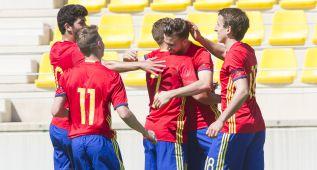 Los goles de Aarón y Mayoral guían a España contra Grecia