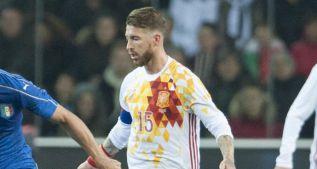 Ramos se quedó en el vestuario por molestias en la espalda
