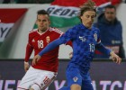 Croacia empató con Hungría y a Modric no le dieron descanso