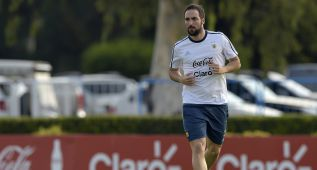 Gonzalo Higuaín sería titular ante Bolivia en Córdoba
