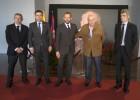 Rosell y Joan Gaspart visitan el espacio memorial Cruyff