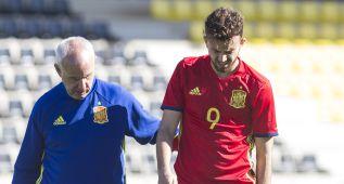 Borja Mayoral, lesionado: contusión en el cuádriceps