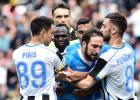 El Nápoles recurre las sanciones de Higuaín y Sarri
