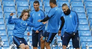 Cristiano y Benzema se entrenaron con normalidad