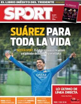 Portada del Diario Sport del 25 de abril de 2016.