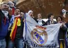 La afición del Real Madrid toma Manchester antes del partido